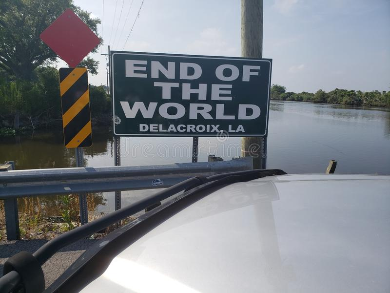 Ende der Welt stockfoto