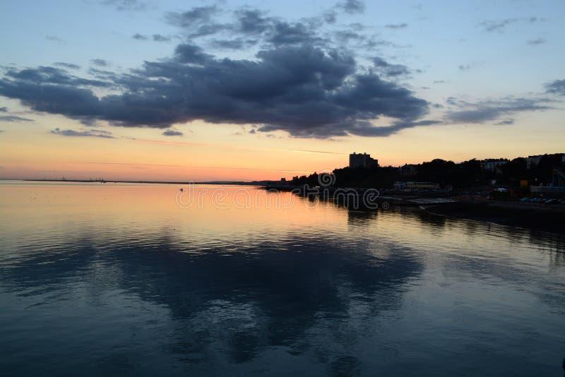 Ende des Sonnenuntergangs stockfotos