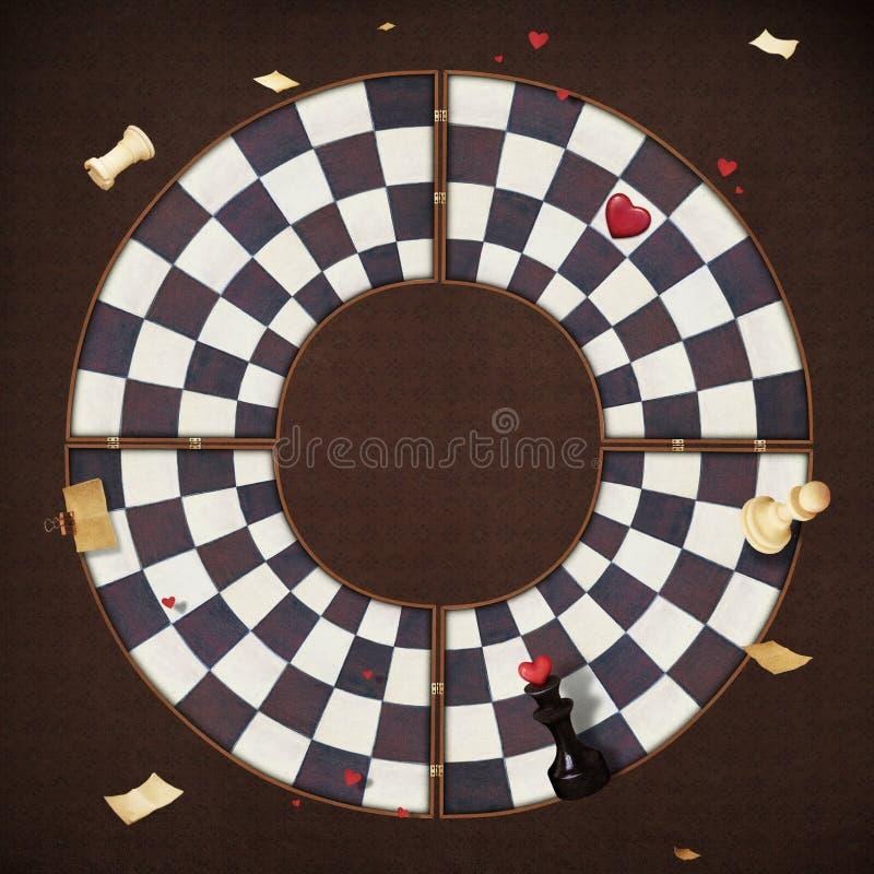 Ende des Spielcheckgehilfen, einfarbiges Schwarzweiss mit Höhepunkt stock abbildung