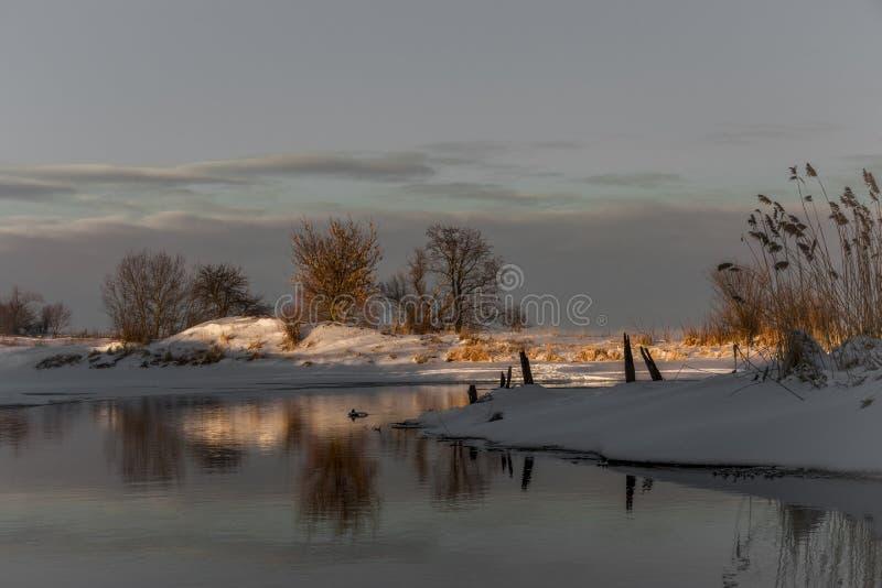 Ende des Winters und der schönen Natur lizenzfreies stockfoto