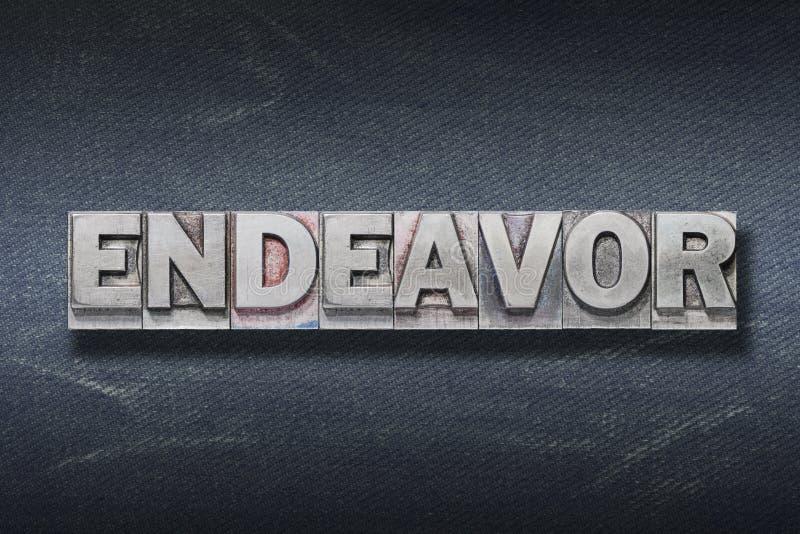 Endeavor word den royalty free stock photos