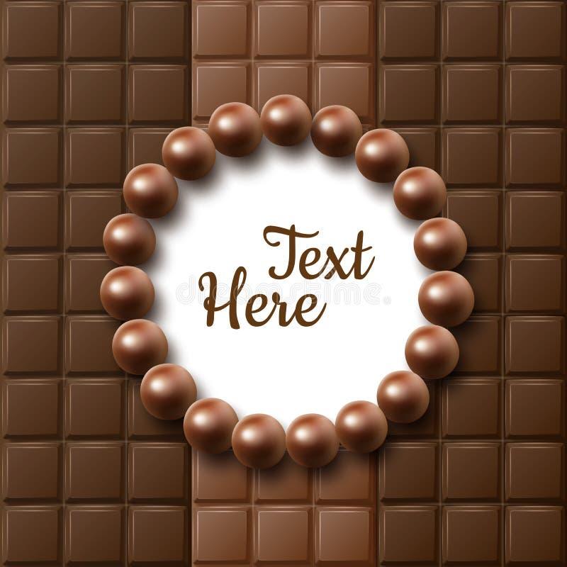 Endecha del plano del chocolate ilustración del vector