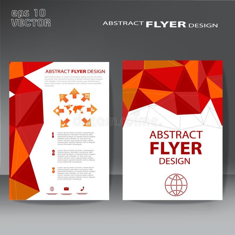 Endecha elegante del diseño del aviador de la plantilla del folleto con fines comerciales libre illustration