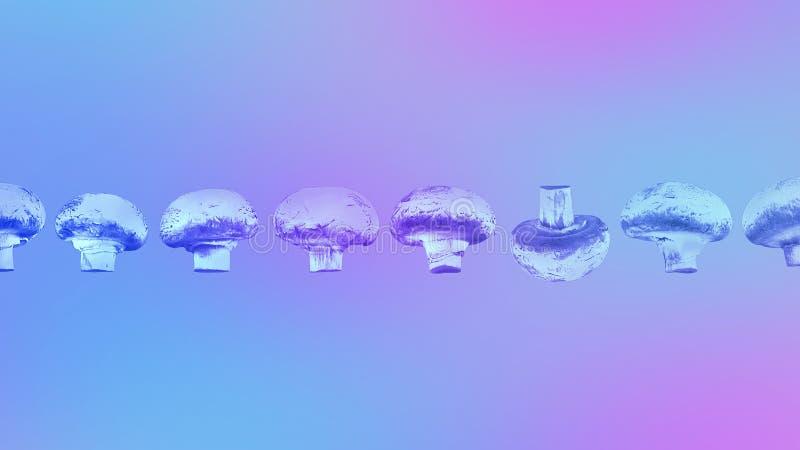 Endecha plana Concepto de la naturaleza Concepto sobrenatural Colores ultravioletas Diseñe para los folletos, carteles, cubiertas imagenes de archivo