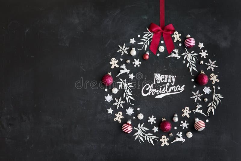 Endecha plana de la guirnalda de la Navidad stock de ilustración