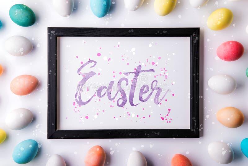 Endecha plana de Pascua en un fondo blanco stock de ilustración
