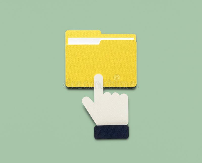 Endecha plana del arte de papel de la accesibilidad de los datos stock de ilustración