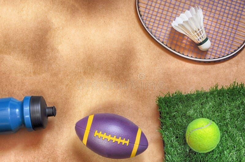 Endecha plana en fondo de los deportes fotos de archivo libres de regalías