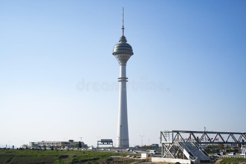 Endem Kule, a torre a mais alta da tev? de Turquia fotografia de stock