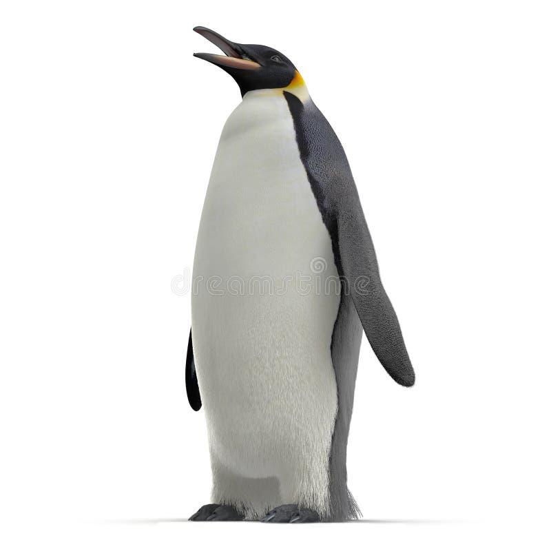 Endemische Spezies der Antarktis Lokalisiert auf Weiß Abbildung 3D vektor abbildung