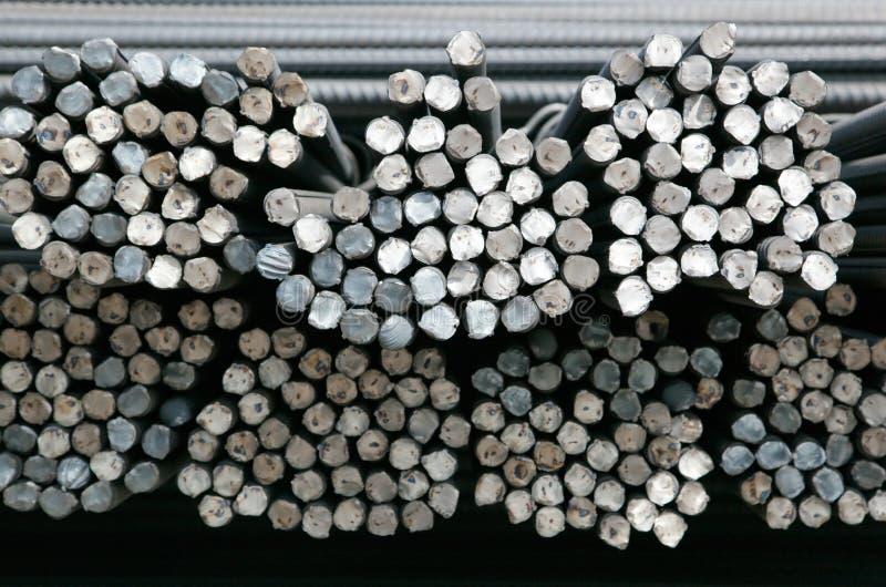 Enden von Stahlre-bar stockbild