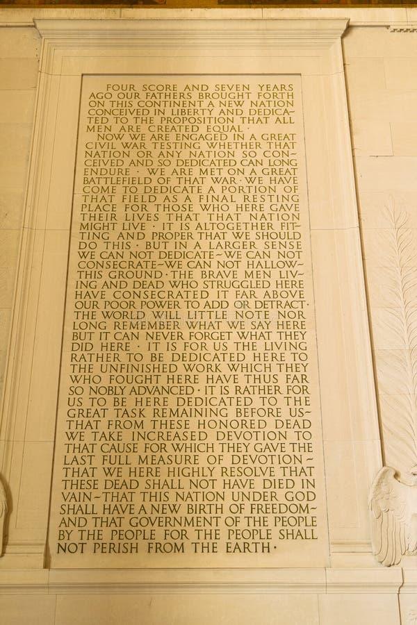 Endereço de Gettysburg imagens de stock royalty free
