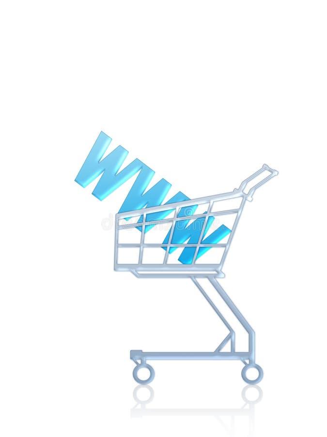 Endereço do domínio/compra do Internet ilustração stock