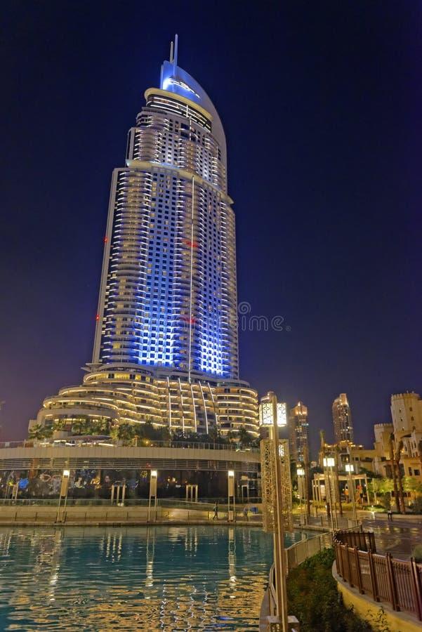 Endereço Dubai do centro fotografia de stock royalty free