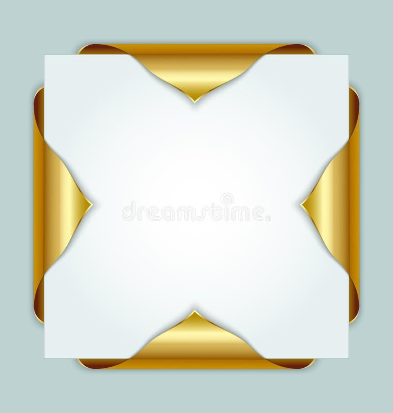 Endereços da Internet dourados ilustração stock