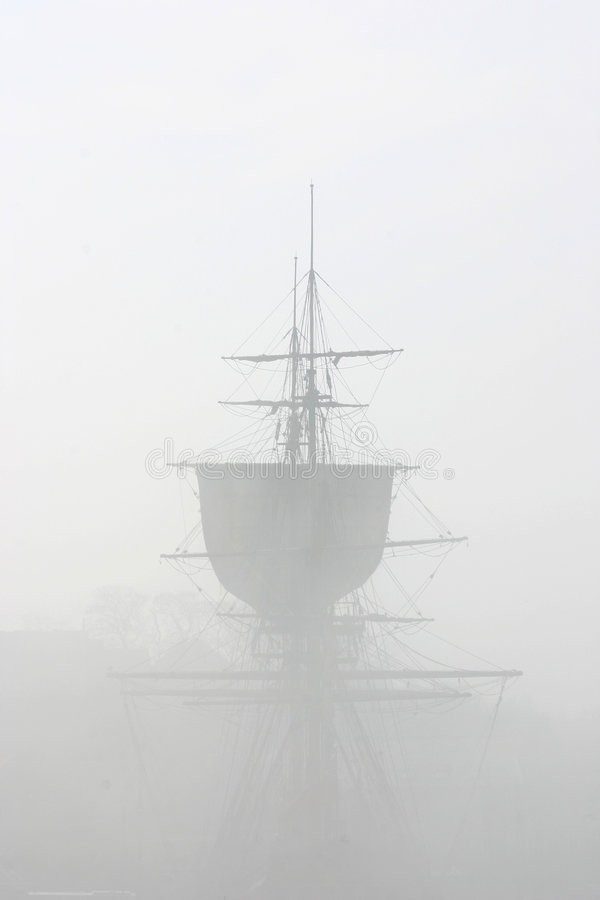 Endevour in the Mist stock photos