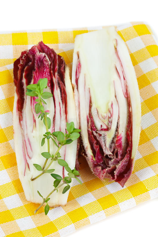 Endive rouge. image stock