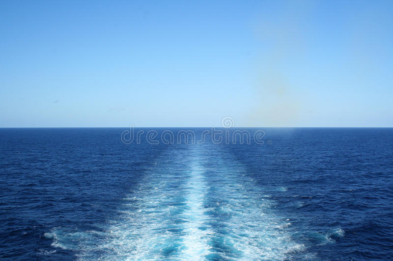 Download Endless stock image. Image of blue, ship, wake, water - 15734045