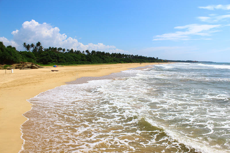 Endless beach of Bentota stock photography