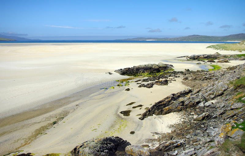 Endless Beach Luskentyre royalty free stock photography