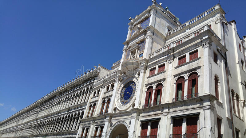 Endless building at Saint Mark square royalty free stock photography