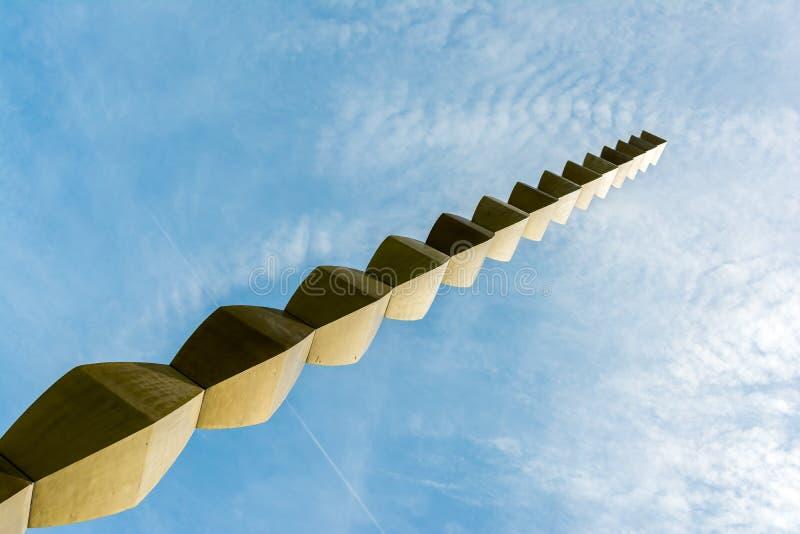 The Endless Column (Coloana Infinitului). The Endless Column (Column of Infinite) made by Constantin Brancusi in Targu Jiu, Romania symbolizes the Infinite royalty free stock photos