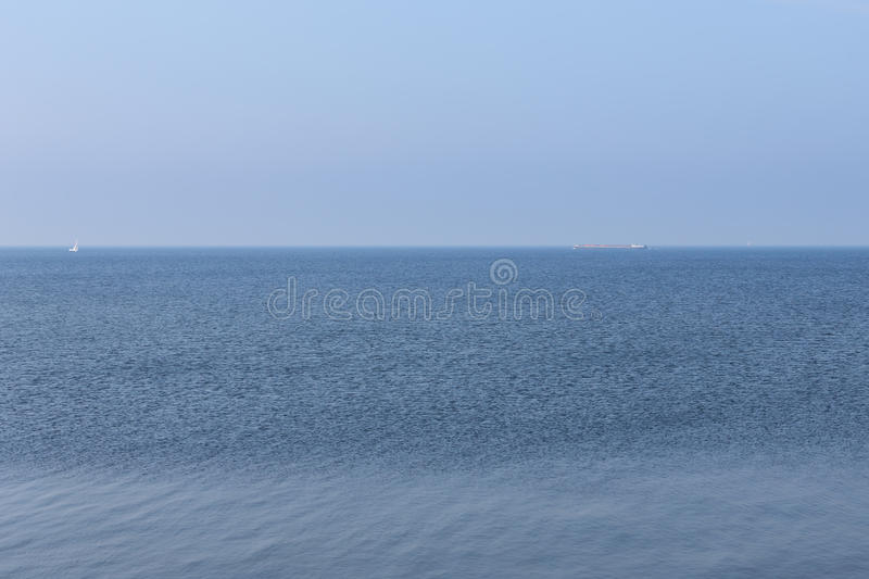 Download Endless Dutch Sea With Blue Sky Stock Photo - Image of landscape, backgrounds: 39505776