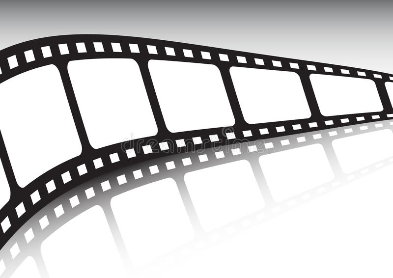 Endless film strip vector illustration. With reflection stock illustration