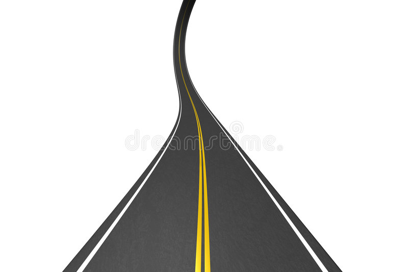 Endless highway vector illustration