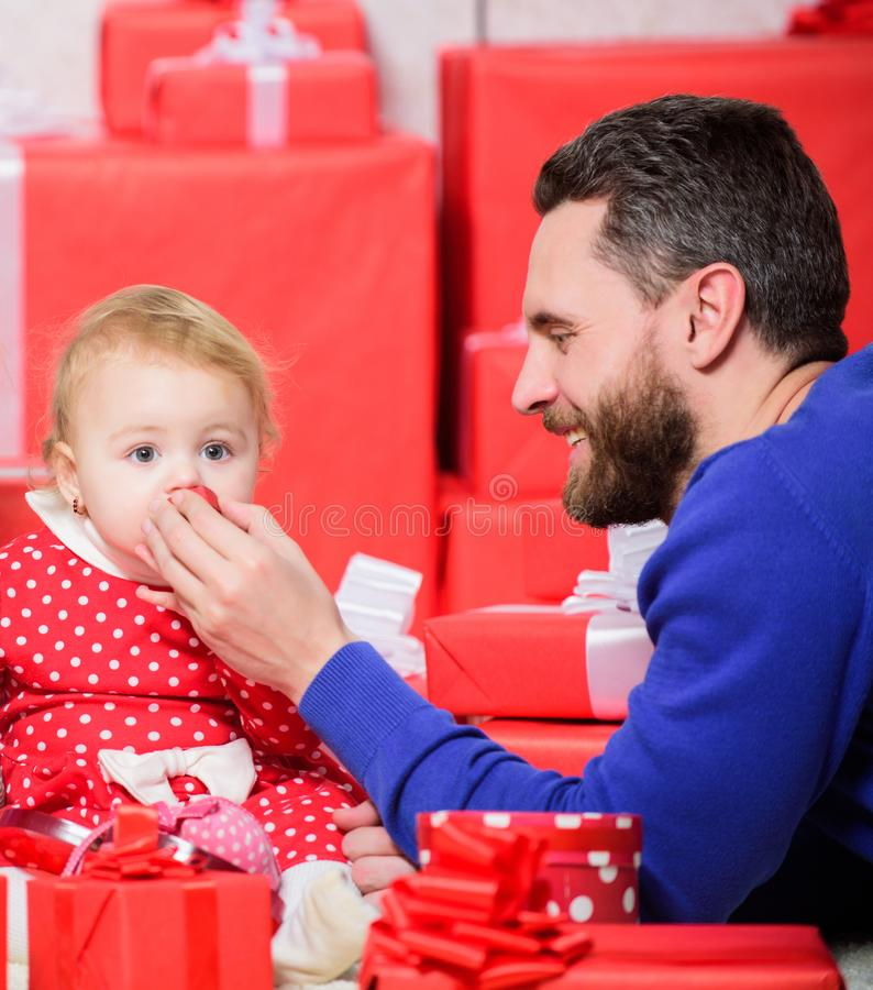 Endless love. Parenthood as challenge and achievement. Parenthood goals. Father play with cute baby toddler daughter. Enjoy childhood. Child deserve all best stock images