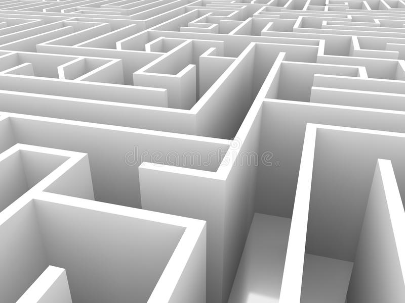 Endless maze 3d illustration royalty free illustration