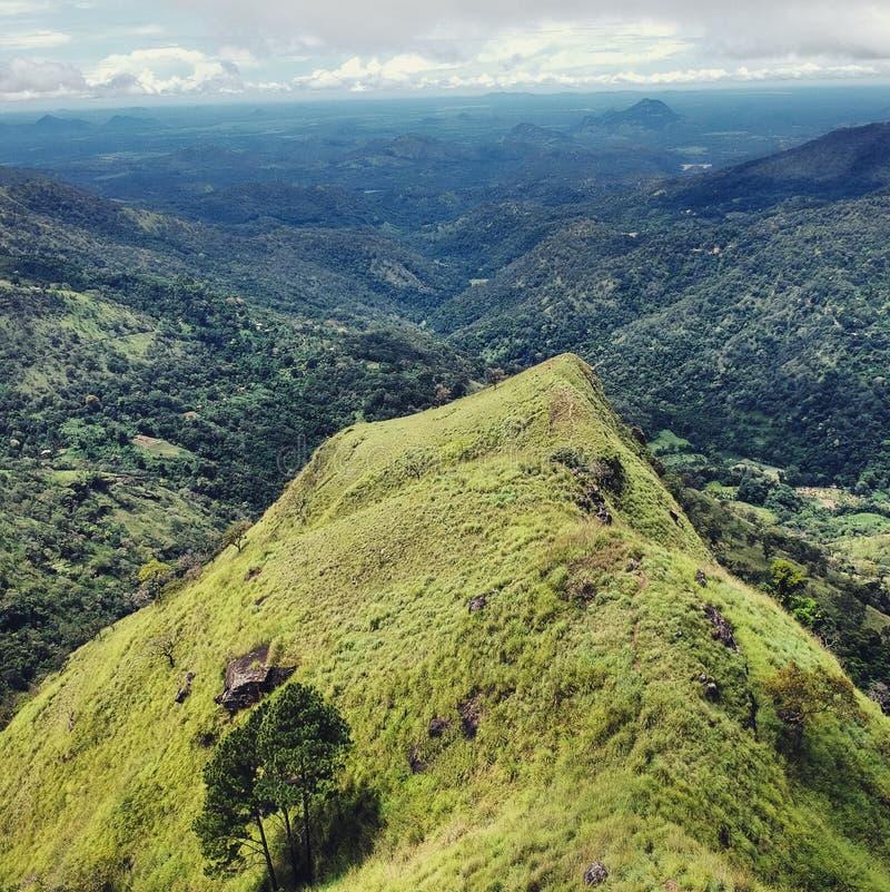 Endless mountains stock image