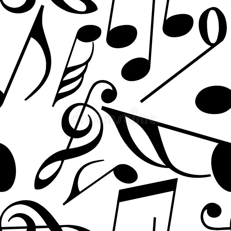 Endless Music Pattern Stock Images