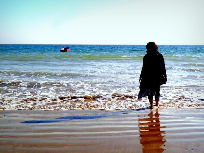 Endless Ocean Thought royalty free stock photo