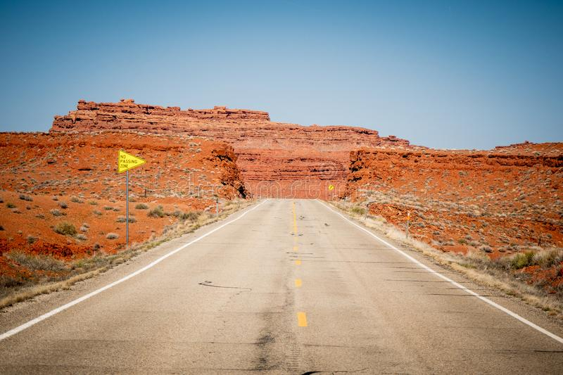 Endless road in the desert of Utah royalty free stock photography