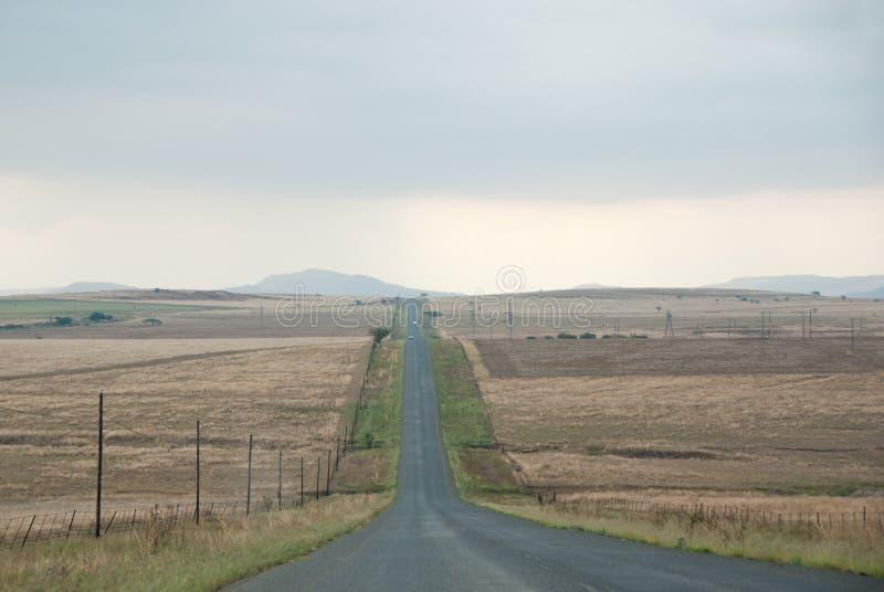Endless road. Straight tarmac road through endless African plains royalty free stock photos