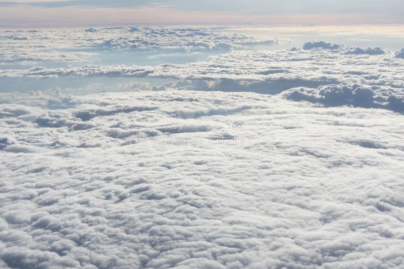 Endless sea of white clouds royalty free stock image