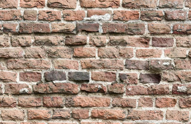 Endless seamless pattern of old brick wall stock photography