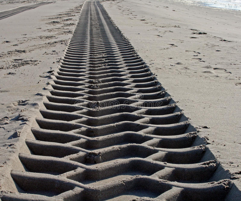 Download Endless tire track stock image. Image of seashore, oceans - 9629137