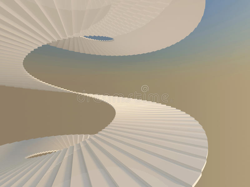 Download Endless way up stock illustration. Image of curve, computer - 23329391