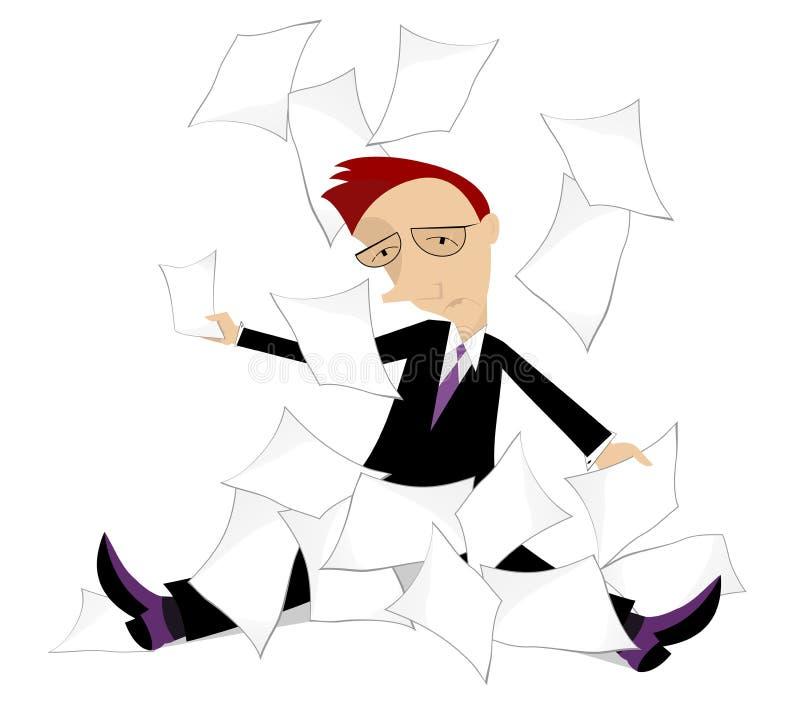 Download Endless work stock illustration. Illustration of male - 35024128