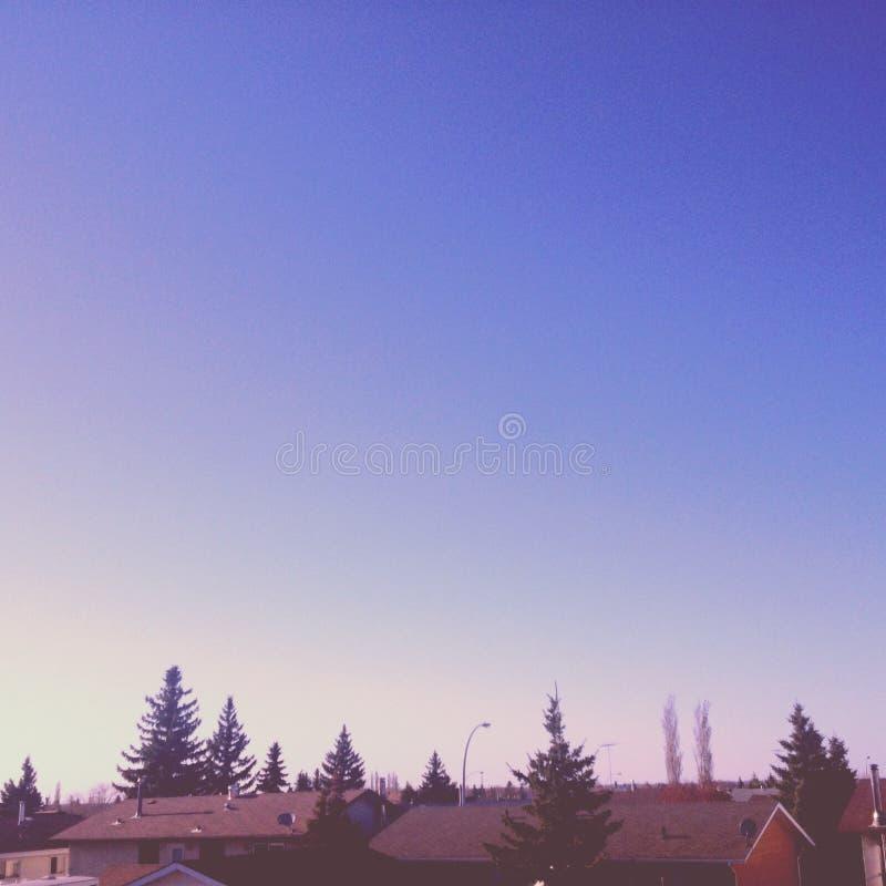 Endlesss himlar över ändlösa hem arkivfoton