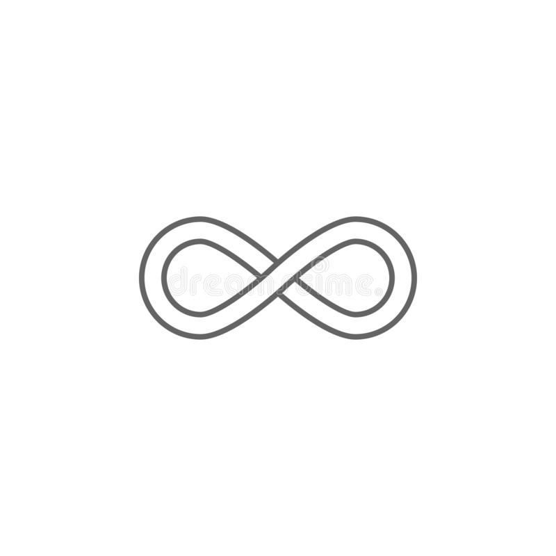 Endlos, Freundikone Element der Freundschaftsikone D?nne Linie Ikone f?r Websitedesign und Entwicklung, APP-Entwicklung Erstklass lizenzfreie abbildung