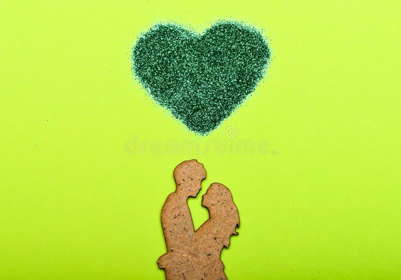 Endlose Liebe Liebe und Romance Weltherztag Minimaler angeredeter Valentinsgruß-Tag flatlay Valentinsgruß-Tagespartei Spott oben stockbild