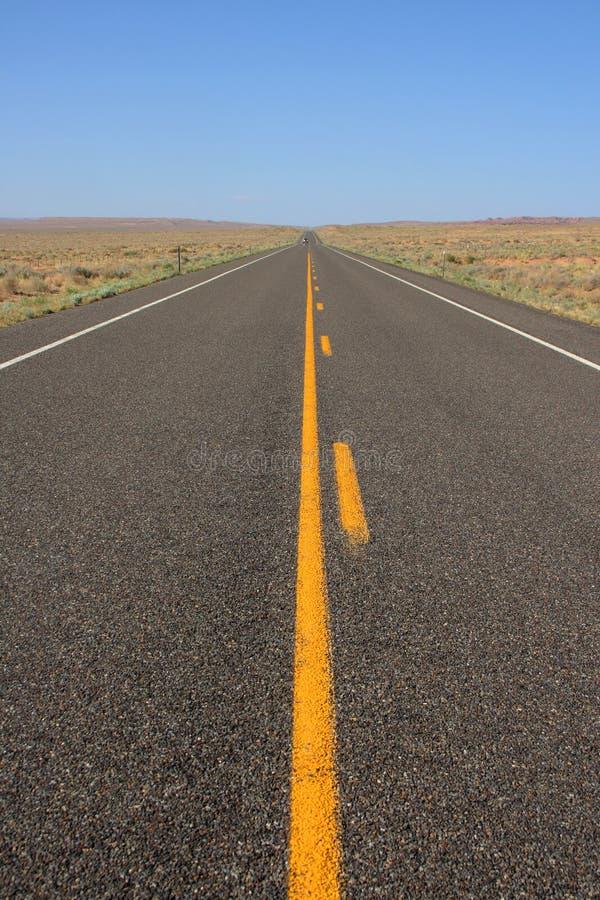 Endlose Straße stockfoto