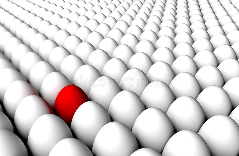 Endloser Hintergrund der Abweichungs-Entdeckungs-weißen Eier lizenzfreie abbildung