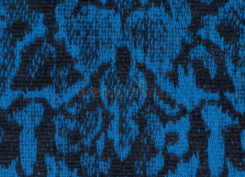 Endloses Muster, Schwarzes und Blau der Gewebebeschaffenheit lizenzfreies stockbild