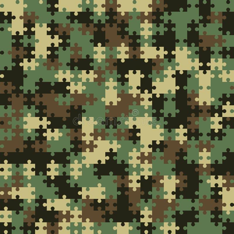 Endloses Puzzlespiel Nahtloses vektormuster Abwechselndes Schwarzes und whi vektor abbildung