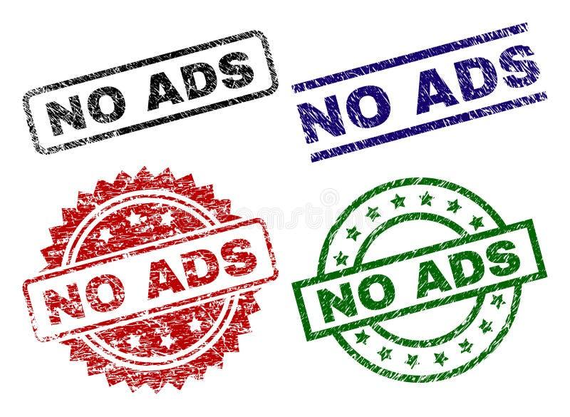 Endommagé texturisé AUCUN timbres de joint d'ADS illustration libre de droits