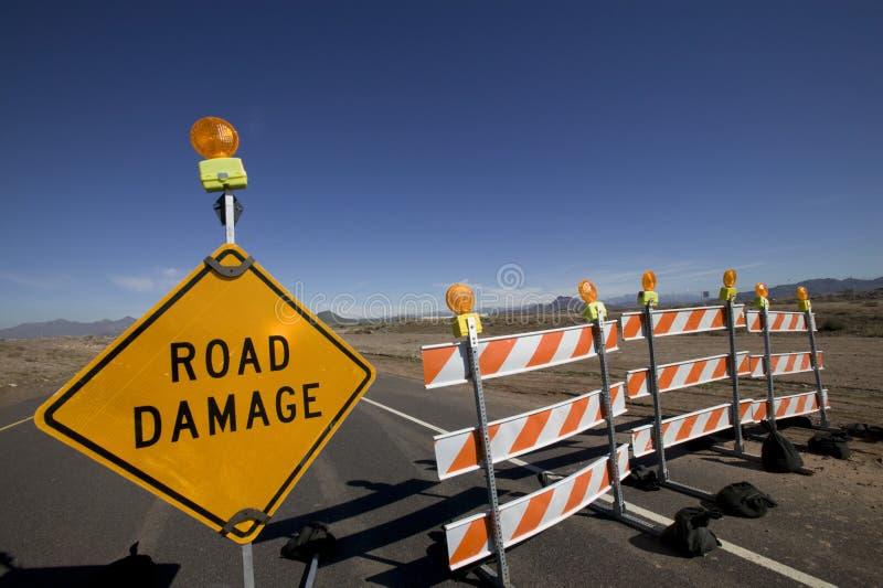 Endommagement de routes photo libre de droits